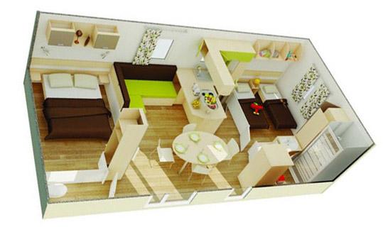 Mobil Home Flores 2 chambres - 4 personnes